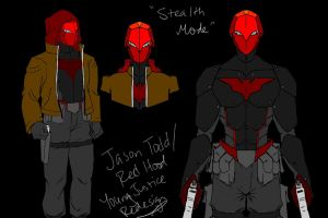 Young Justice: Red Hood Redesign, Stealth Mode by ElvenWhiteMage
