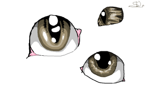 Different styles of eyes in ms paint by SnapDragonStudios