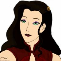 Asami coloured by talita-rj