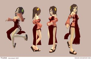 Filana low-poly by Renuski