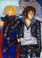 Squall and Cloud by Fasalina