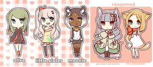 ADOPTABLES4 all taken! by niaro
