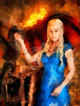 Daenerys Targaryen - Game of Thrones by WisdomAlchemy