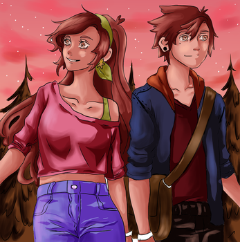 Back to Gravity Falls by chuu-art