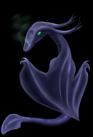 Ghost Dragon Hatchling by Rone-Ombre