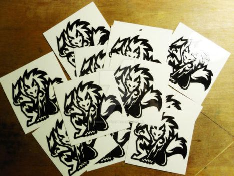 Tribal Werewolf Decals by t3rrorbunny