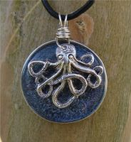 Lil' Octopus on Fused Glass by FusedElegance