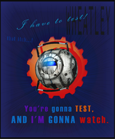 Portal 2: Wheatley Poster by exile-chan