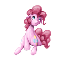 Pinkie Painting Experiment by InLucidReverie