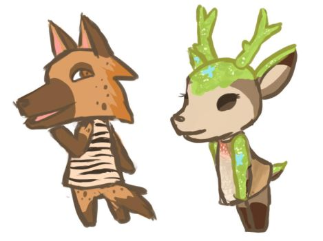 Hyena and Moss Deer by MossDeer