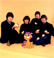 Scootaloo and The Beatles by Bronyman1995