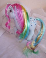 Rehaired/ Restored Moonstone My Little Pony by mayanbutterfly