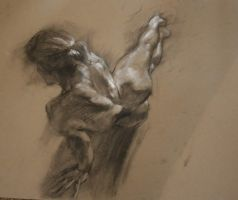 Charcoal nude 2 by roughin