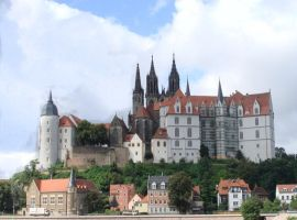 Castle in Meissen by MiraDzialynska