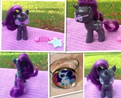 Nightmare Rarity Filly custom by DjPon33