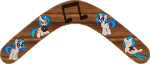Vinyl Scratch Boomerang by Out-Buck-Pony