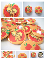 My Little Pony Applejack buttons by artshell