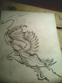 Phoenix drawing by andreaseklundh