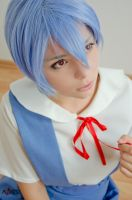 Ayanami Rei - School Uniform - NGE - [Red Ribbon] by GeniMonster