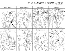 Kalosshipping - almost kissing meme by nabila300