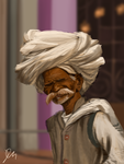 12-3-14 Indian Man study [WIP] by davidmation
