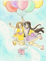 Ritsu and Mio - To the sky by Arwen-chan