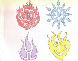 RWBY Emblems colored by FH47