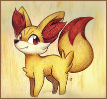 Fennekin by Phoelion