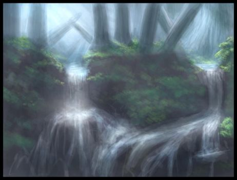 Mossflower Rapids by Temiree