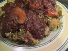 Cherry-Plum Criminara N Chicken-Broccolette Rice 4 by Windthin