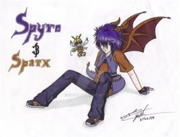 Spyro and Sparx by srs17