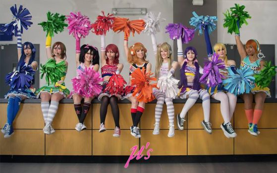 Love Live! School Idol Project Cheerleader cosplay by Achico-Xion