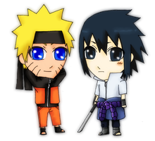 ::Naruto and Sasuke:: by unknow-chan
