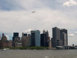 Manhattan View from Ship by Lily-Gangsta