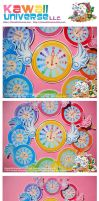 Kawaii Time Fly Clock Vinyls by KawaiiUniverseStudio