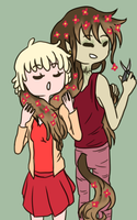 Fraya Playing With Alex's Hair (Ask) by EuchredEuthanasia