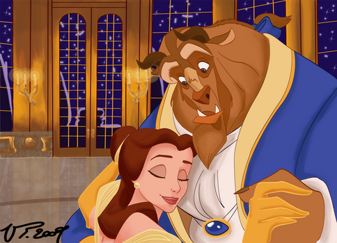 Beauty and The Beast Disney by VPdessin
