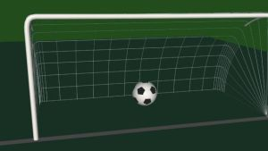 Soccer ball and goal by vica