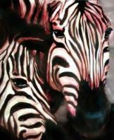 Horses with stripes by artfullycreative