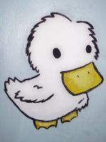 Wall Painting - Duckling by Maplemay
