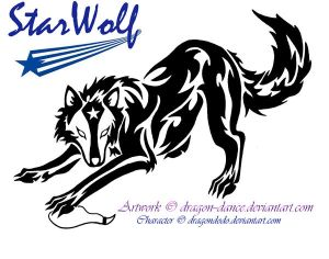 AT: Tribal Starwolf Tattoo by DansuDragon