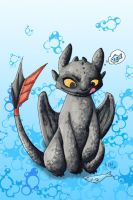 Toothless - Tasty Fish by BrokenPuppet