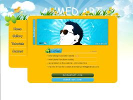 web layout 7 by AhmedART