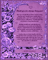 Thank You 4 Always Being You by ZandKfan4ever57