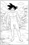 Goku Naked in a Wilderness by Anime-Men
