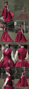 Red Sansa Dress by yenna-photo