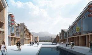 ZhouZhuang Commercial Street - Concept Render 1 by Wittermark