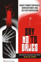 anti drugs poster design by sophiyaster
