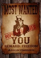 The Most Wanted is YOU #OpBigBrother version by OpGraffiti