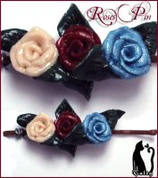 Roses Bobby Pin by Talty